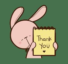 Pink Rabbit Animated sticker #12798945