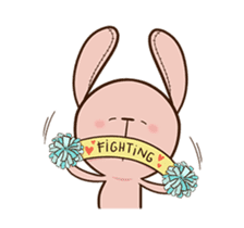 Pink Rabbit Animated sticker #12798946