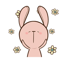 Pink Rabbit Animated sticker #12798950