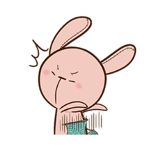 Pink Rabbit Animated sticker #12798954
