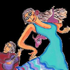 Spanish and Flamenco sticker 2
