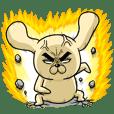 怒りのロシヒキャラクターズ - クリエイターズスタンプ