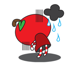 Blissful Red Apple sticker #12835668