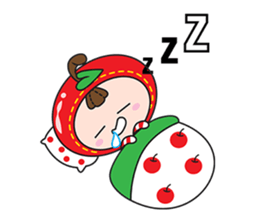 Blissful Red Apple sticker #12835672