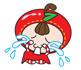 Blissful Red Apple sticker #12835673