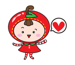 Blissful Red Apple sticker #12835684