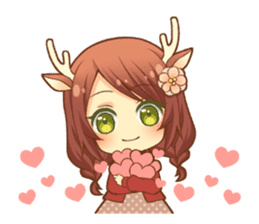 Heartwarming bambi girl sticker #12839182