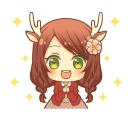 Heartwarming bambi girl sticker #12839183