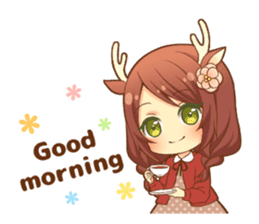 Heartwarming bambi girl sticker #12839185