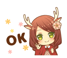 Heartwarming bambi girl sticker #12839187