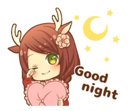 Heartwarming bambi girl sticker #12839188