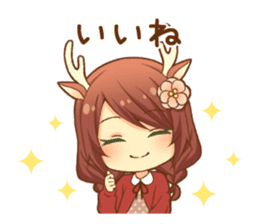 Heartwarming bambi girl sticker #12839190