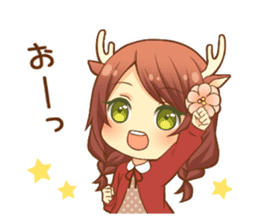 Heartwarming bambi girl sticker #12839191