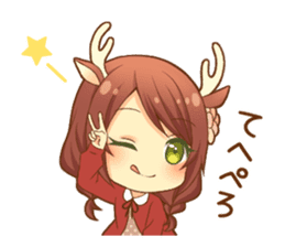 Heartwarming bambi girl sticker #12839192