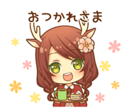 Heartwarming bambi girl sticker #12839193
