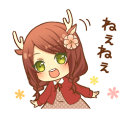 Heartwarming bambi girl sticker #12839195