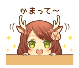 Heartwarming bambi girl sticker #12839196