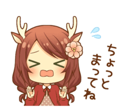 Heartwarming bambi girl sticker #12839197