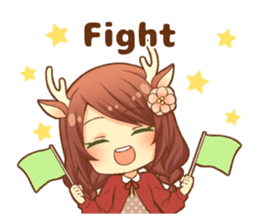 Heartwarming bambi girl sticker #12839199