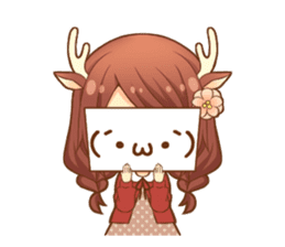 Heartwarming bambi girl sticker #12839201