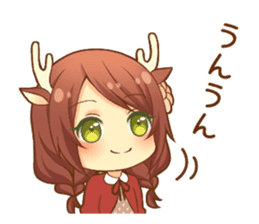 Heartwarming bambi girl sticker #12839202