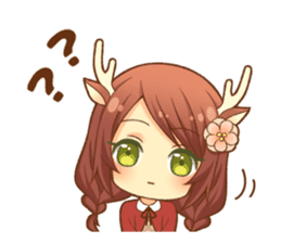 Heartwarming bambi girl sticker #12839207