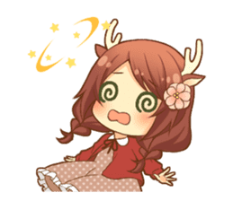 Heartwarming bambi girl sticker #12839211
