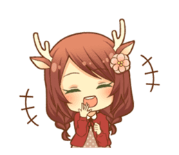 Heartwarming bambi girl sticker #12839213