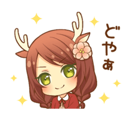 Heartwarming bambi girl sticker #12839219