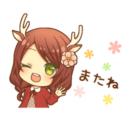 Heartwarming bambi girl sticker #12839221