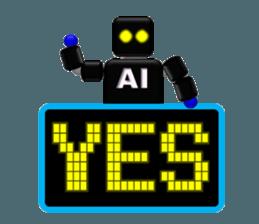 artificial intelligence sticker #12844946