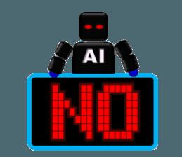 artificial intelligence sticker #12844947