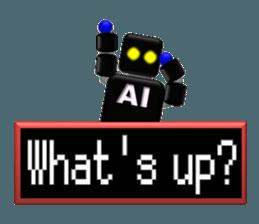 artificial intelligence sticker #12844970