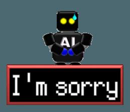 artificial intelligence sticker #12844972