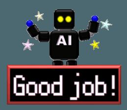 artificial intelligence sticker #12844973