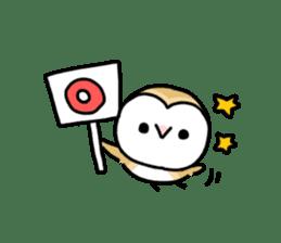 Mamefuku of barn owl5 Korean ver. sticker #12846649