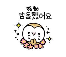 Mamefuku of barn owl5 Korean ver. sticker #12846676