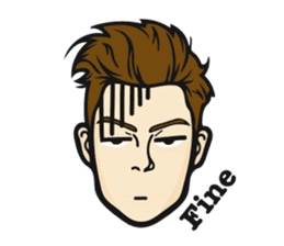 Handsome Guy Zebulon sticker #12848635