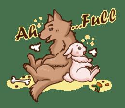 Wolf&Bunny 137 sticker #12851700
