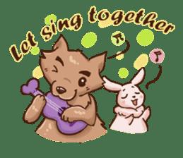 Wolf&Bunny 137 sticker #12851701