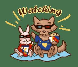 Wolf&Bunny 137 sticker #12851703
