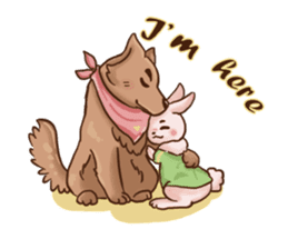 Wolf&Bunny 137 sticker #12851706