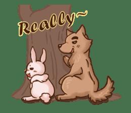 Wolf&Bunny 137 sticker #12851712