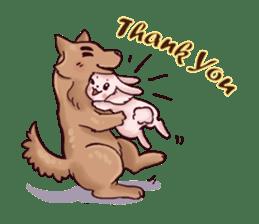 Wolf&Bunny 137 sticker #12851714