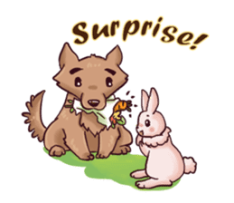 Wolf&Bunny 137 sticker #12851717
