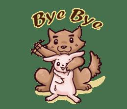 Wolf&Bunny 137 sticker #12851725