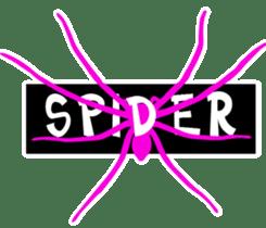pink spider sticker #12851946
