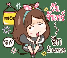 Milin a Cute office lady sticker #12855011