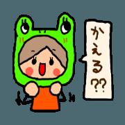 สติ๊กเกอร์ไลน์ Orange chan..9