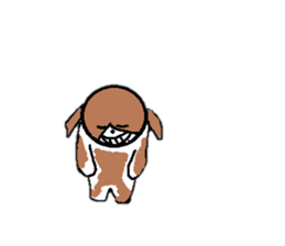 Perverse dog sticker #12861737
